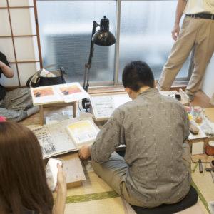 3年生アートゼミ 渡邊木版美術画舗 見学